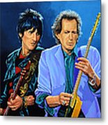 Ron Wood And Keith Richards Metal Print by Paul Meijering