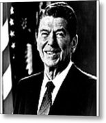 Ronald Reagan Metal Print by Benjamin Yeager