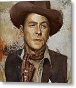 Ronald Reagan Portrait 4 Metal Print by Corporate Art Task Force
