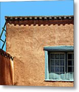Roof Corner With Ladder And Window Metal Print