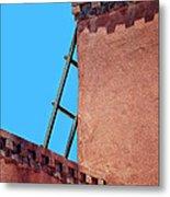 Roof Corner With Ladder Metal Print