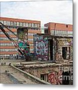 Roof Of The Alte Eisfabrik Ruin In Berlin Metal Print