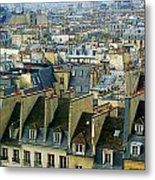 Roof Tops And Eiffel Tower Metal Print