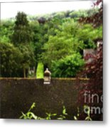Roof Tops In Countryside Scenery With Trees - Peak District - England Metal Print