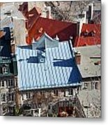 Roofs Of Quebec Metal Print