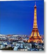 Rooftop View On The Eiffel Tower Metal Print