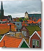 Rooftops From Our Host's Apartment In Enkhuizen-netherlands Metal Print
