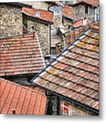 Rooftops Of Apricale.italy Metal Print