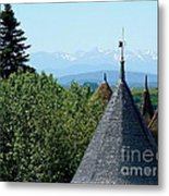 Rooftops Of Carcassonne Metal Print