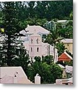A Unique Aspect Of Rooftops In St. George's,  Bermuda Metal Print