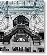 Rookery Building Atrium Metal Print