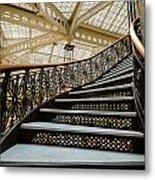 Rookery Building Atrium Staircase Metal Print