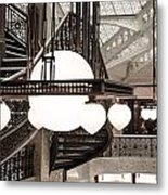 Rookery Building Lights Metal Print