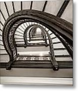 Rookery Building Off Center Oriel Staircase Metal Print