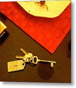 Room Key To The Caesar House In Rome Metal Print