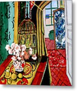 Room With A View After Matisse Metal Print