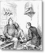 Roosevelt-taft Cartoon Metal Print