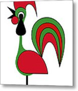 Rooster from Porto Metal Print