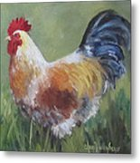 Rooster Of Color Metal Print