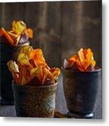 Root Vegetable Crisps Metal Print