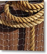 Rope And Net Metal Print