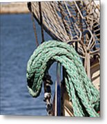Ropes And Rigging Metal Print