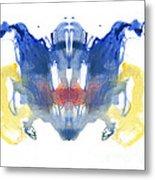 Rorschach Type Inkblot Metal Print
