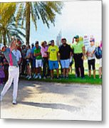 Rory Mcilroy - The Third Round Of The Omega Dubai Desert Classic Metal Print