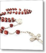 Rosary Beads Metal Print