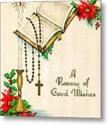 Rosary Good Wishes Metal Print