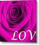 Rose 16 Love Metal Print