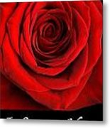 Rose 2 I Love You Metal Print