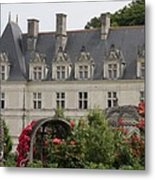 Rose And Cabbage Garden Chateau Villandry Metal Print