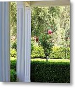 Rose And Front Porch Metal Print