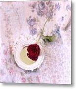 Rose And Mirror Metal Print