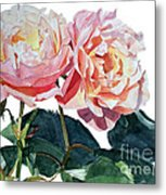 Pink And Yellow Rose Anne Metal Print