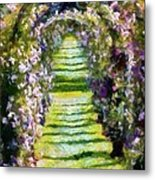 Rose Arch In Summer Sunshine Metal Print