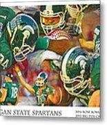 Rose Bowl Collage Metal Print