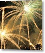 Rose Bowl Fireworks Metal Print