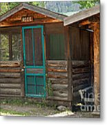 Rose Cabin At The Holzwarth Historic Site Metal Print