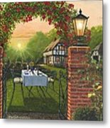 Rose Cottage - Dinner For Two Metal Print
