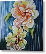 Rose Duo Metal Print