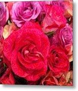 Rose Enhanced Metal Print