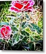 Rose Expressive Brushstrokes Metal Print