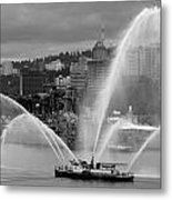 Rose Festival Fire Boat Metal Print