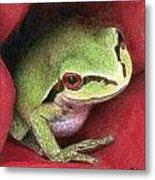 Rose Frog Metal Print