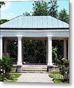 Rose Garden Pergola In Delaware Park Buffalo Ny Oil Painting Effect Metal Print