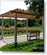 Rose Garden Retreat Metal Print