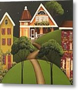 Rose Hill Lane Metal Print