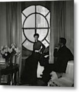 Rose Hobart Standing By A Window Metal Print